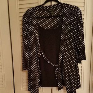 LANE BRYANT 3/4 SLEEVE TOP ALL IN 1 TOP